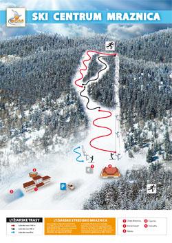 Mapa strediska Ski centrum Mraznica Hnilčík